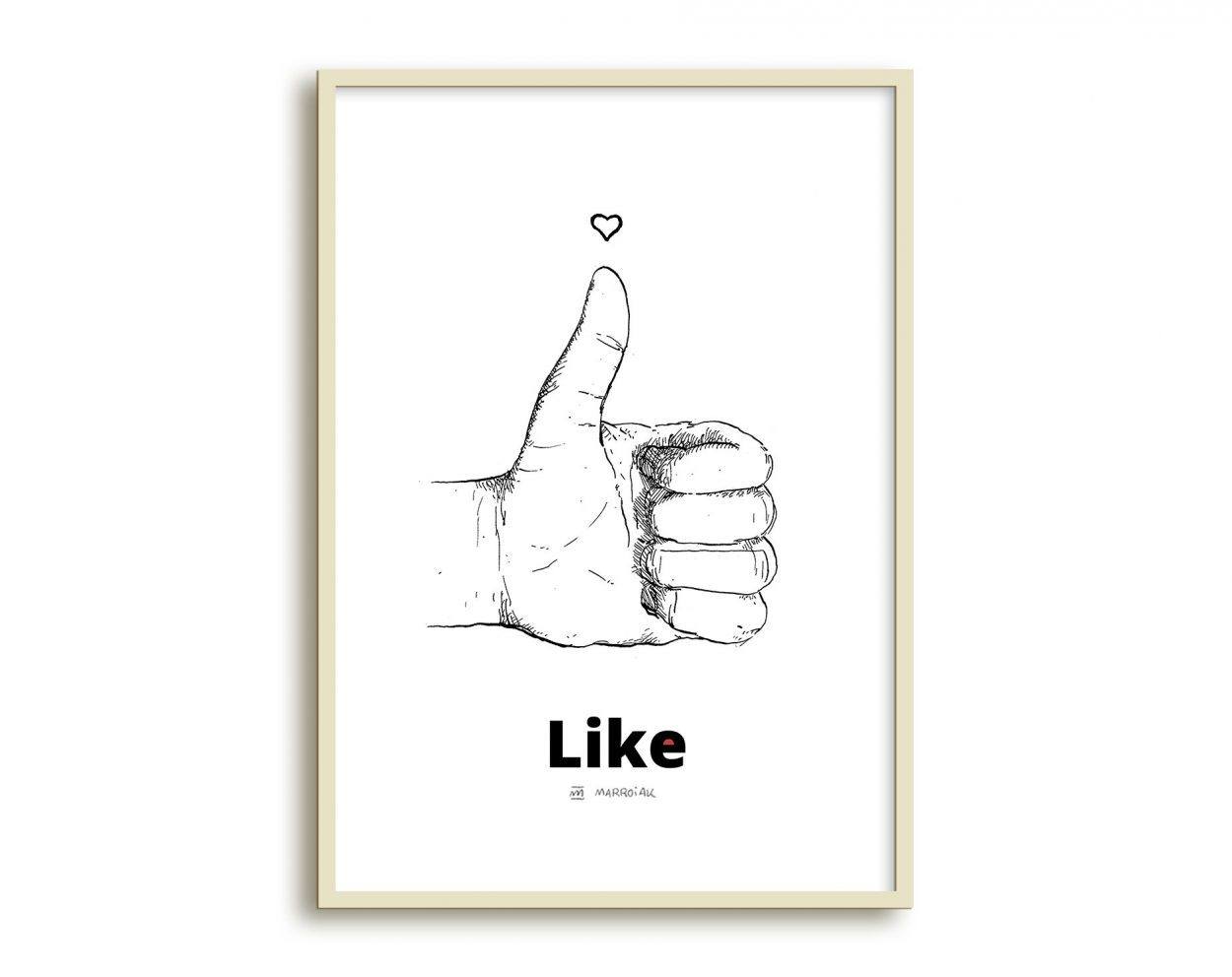 Dibujo mano Like de Facebook