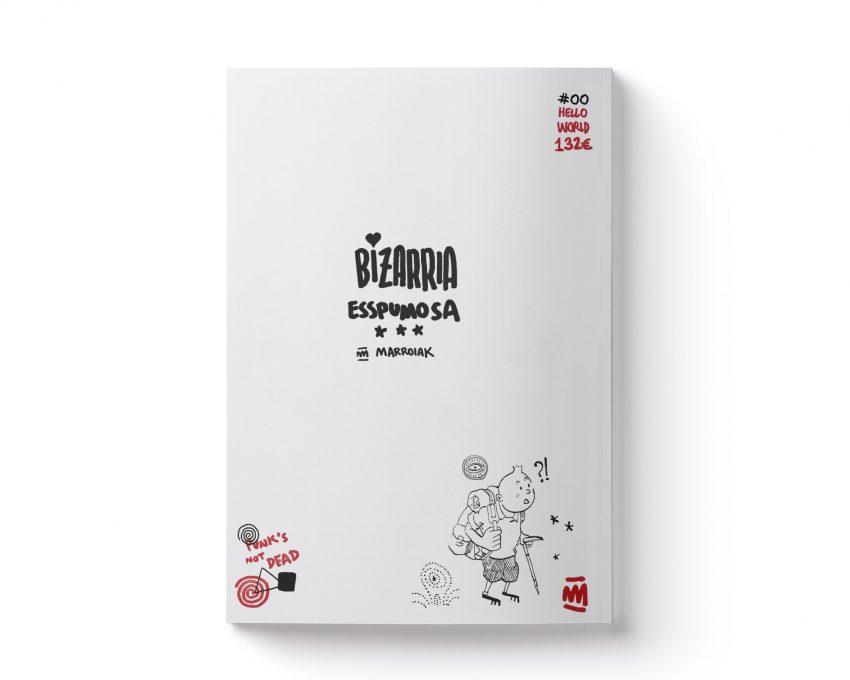 Portada del fanzine de ilustración experimental Bizarria Esspumosa. Cuaderno de dibujo y bocetos de artista