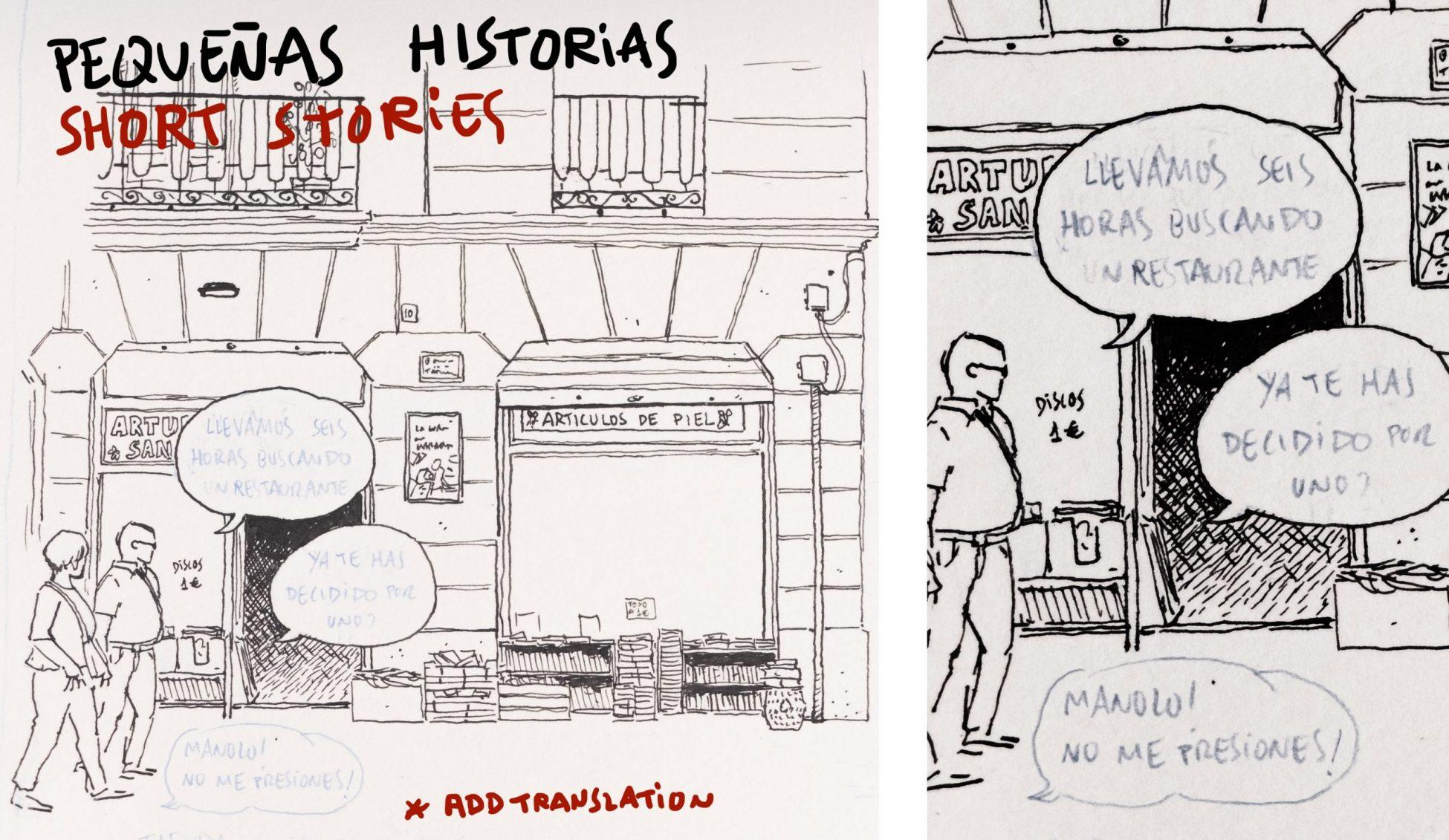 Boceto ilustracion del carmen en valencia