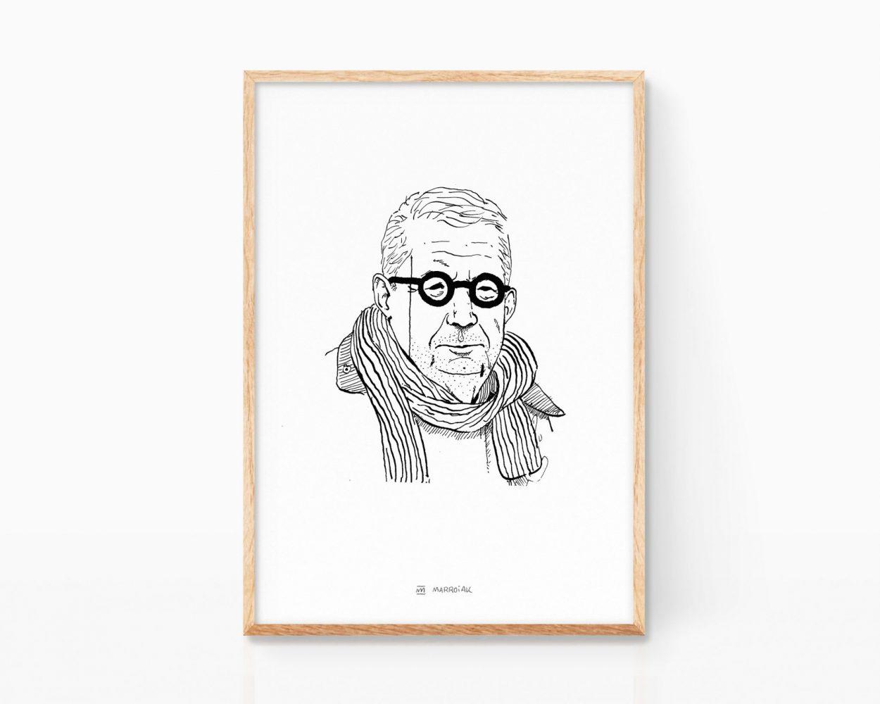 Illustration portrait of Johan Giesecke. Sweden. Fine Art Print