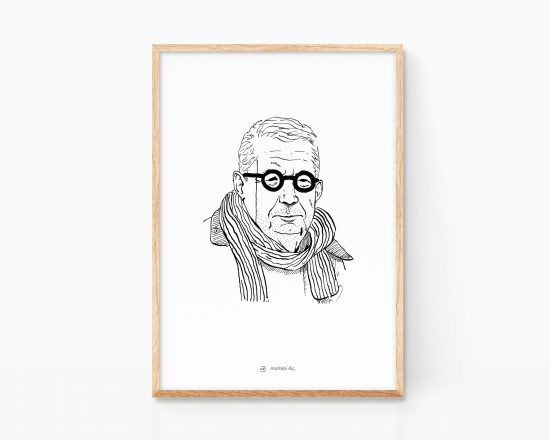 Illustration portrait of Johan Giesecke. Sweden. Fine Art Print