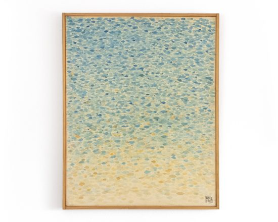 Made to order original Abstract contemporary modern wall painting. Abstract Sea Shore - Watercolor on canvas - Dots Wall Art - Beach Décor