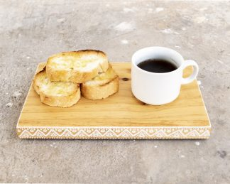 Plato madera para café