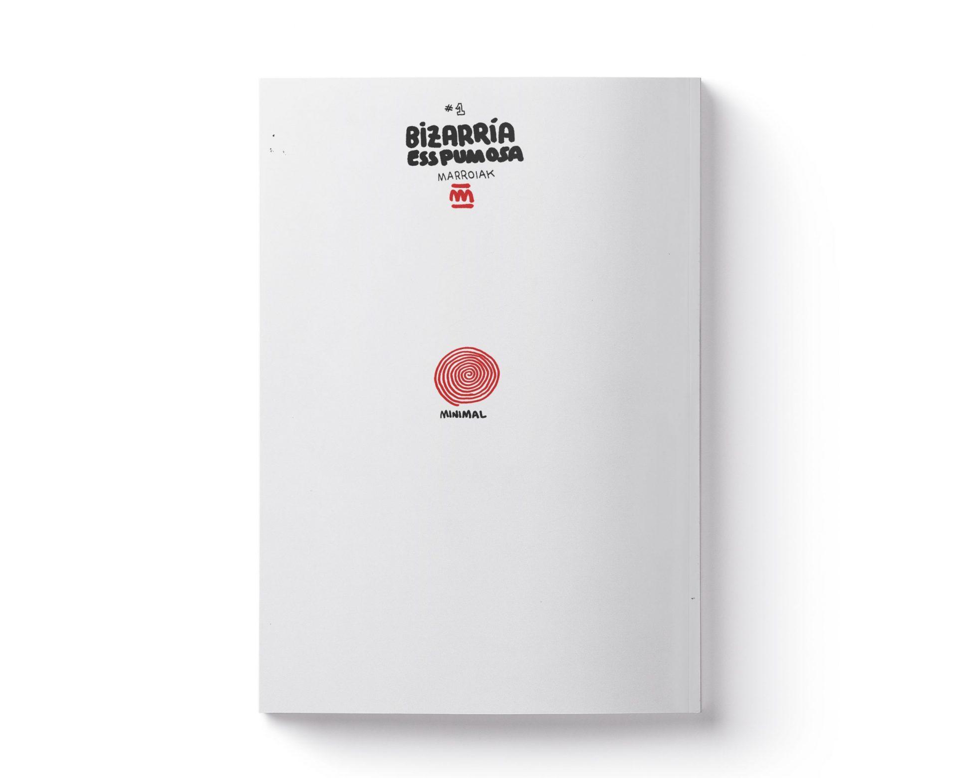 Portada del fanzine experimental de ilustración y arte Bizarria esspumosa. Cuaderno de dibujo y bocetos
