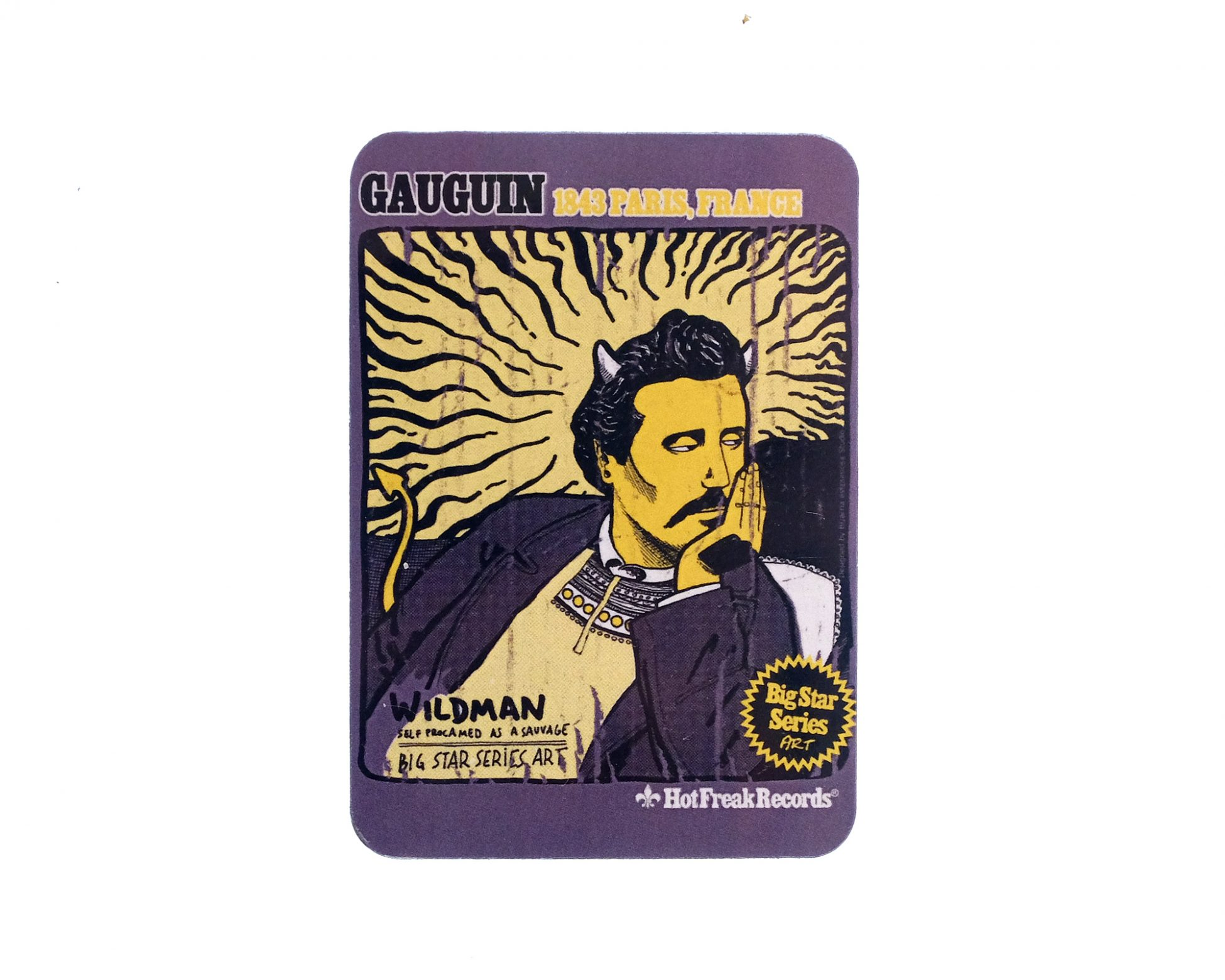 Dibujo del artista Paul Gauguin. Merchandising iman.