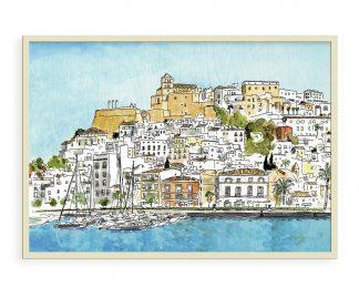 Dibujo de Dalt Vila Ibiza