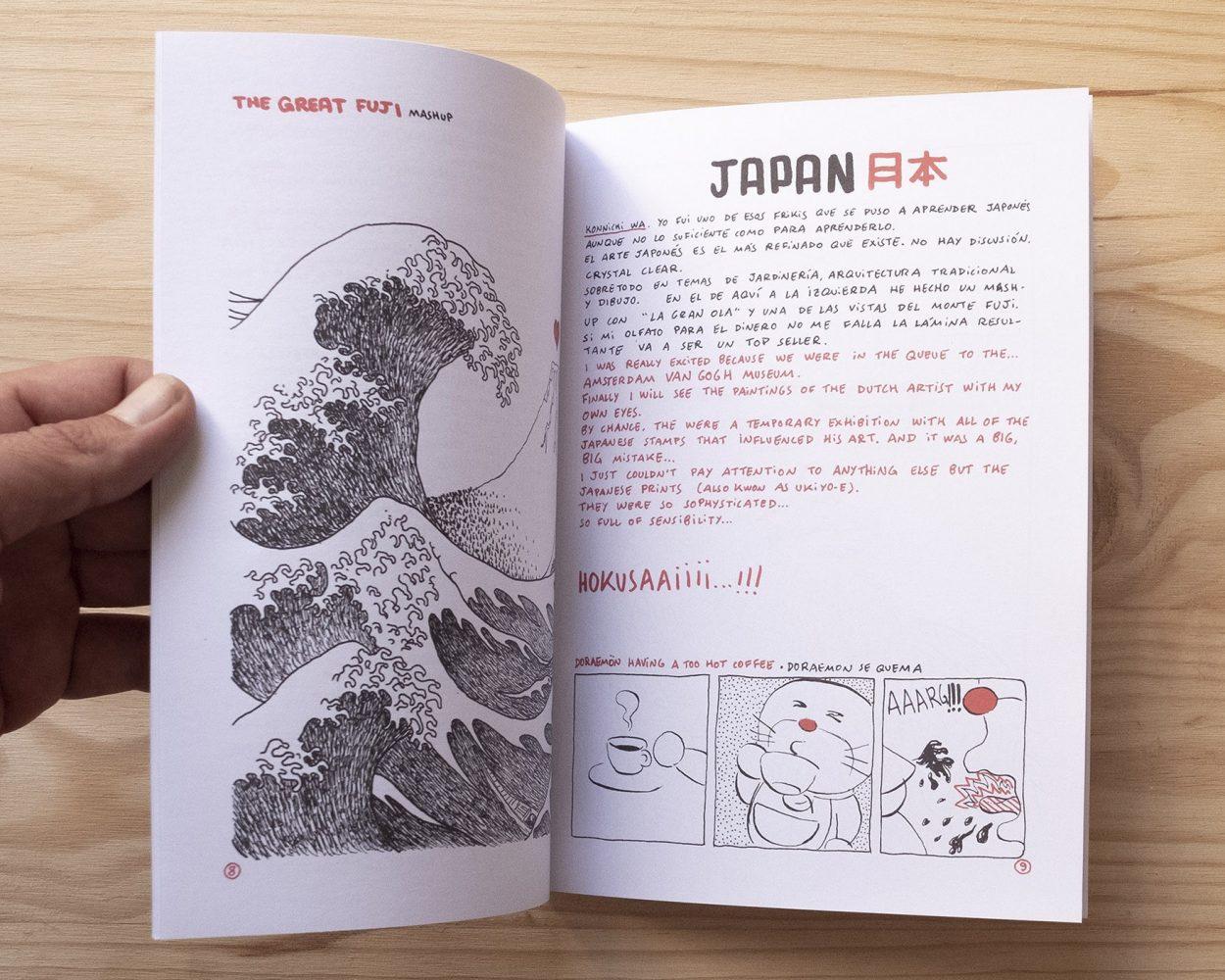 Comic experimental dibujo underground. La gran Ola