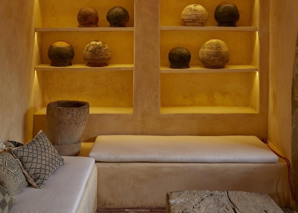 Fotografía del interior del Hotel Escondido en Oaxaca, Mexico. Arquitectura minimalista