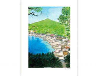 Lámina playa de Sa Caleta Ibiza