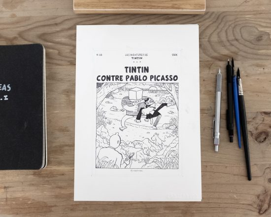 Tintin contre Pablo Picasso - Original Fake Cover