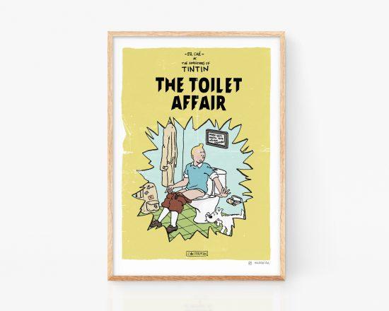 Ilustración de portada falsa de un cómic de tintin de Herge