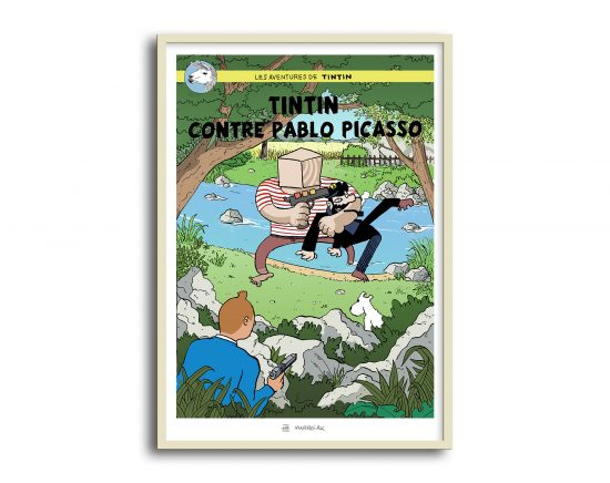 Tintin contra Picasso, cómic parodia